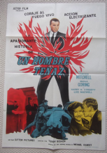 Unstoppable Man (1961) Cameron Mitchell  Film Poster - Argentinian
